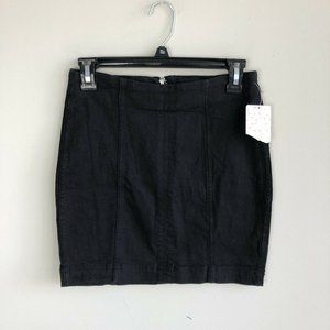 NWT Free People Black Front Seam Pencil Skirt 4